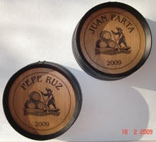 BARREL HEADS WITH LOGO Barrel sold by TONECOR SL