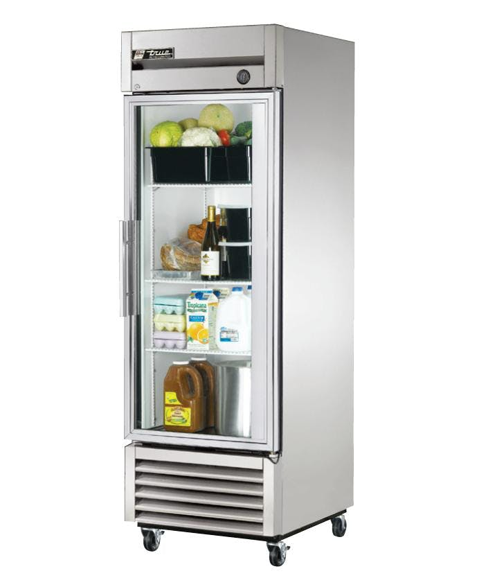 1 Glass Door Upright Reach-In Freezer Commercial refrigerator sold by ChefsFirst