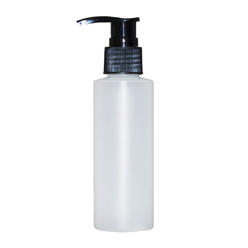 4 oz Natural plastic with lotion pump Plastic bottle sold by Glass Bottle Outlet