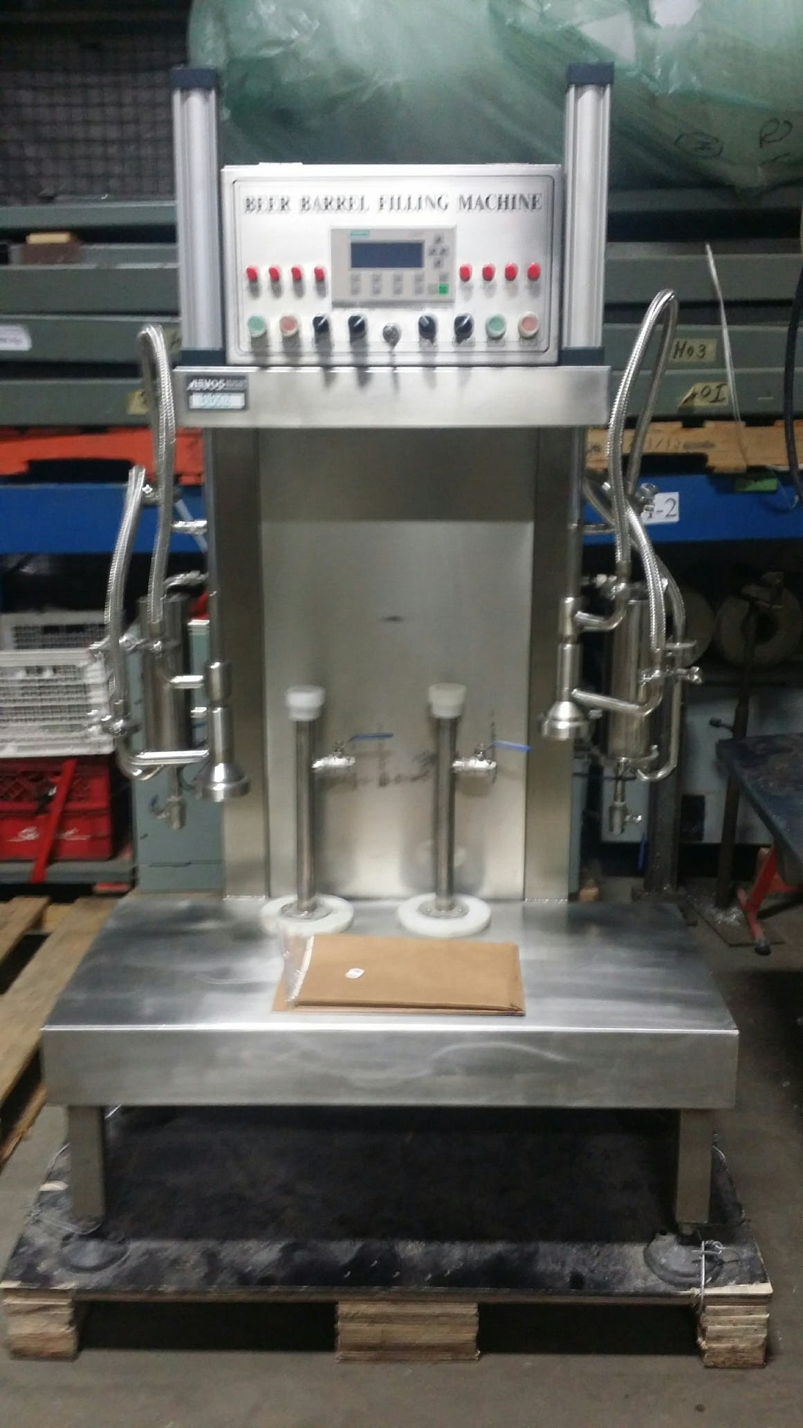 GZ04 Beer Barrel Filling Machine  Keg filler sold by Aevos Equipment