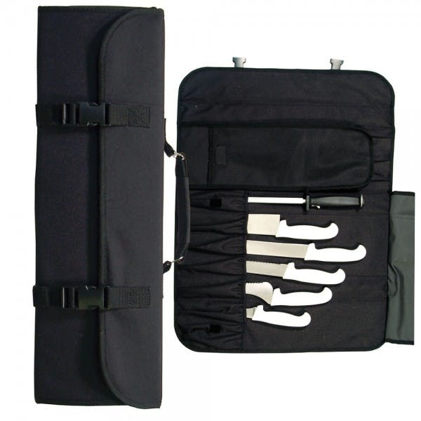 10 Pocket Black Nylon Knife Case