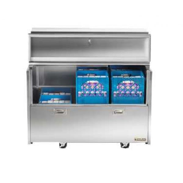 """8 Crate Double Access Milk Cooler w/ 4"""" Casters"""