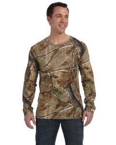 3981 Code Five Officially Licensed REALTREE® Camouflage Long-Sleeve T-Shirt Promotional shirt sold by Lee Marketing Group