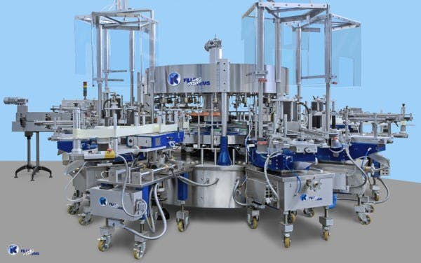 Modular Automatic Rotary Labelling Machine Bottle labeler sold by IC Filling Systems