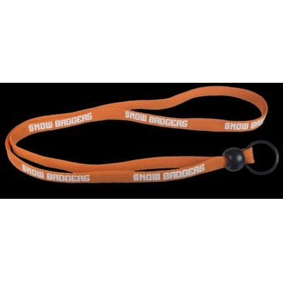 """3/8"""" Screen Printed Lanyard with Split Ring and Bead"""