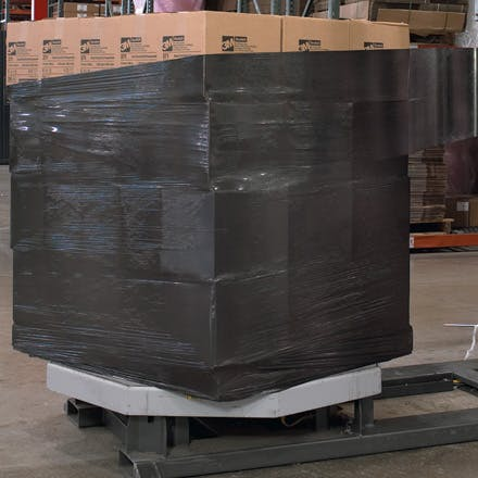 Black Opaque Stretch Film Wrap Stretch wrap sold by Ameripak, Inc.