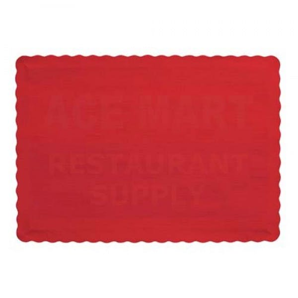 "9-1/2"" x 14"" Red Disposable Placemat"