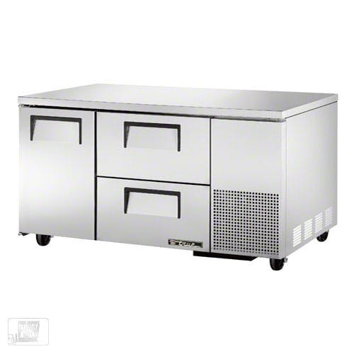 "True - TUC-60-32D-2 61"" Deep Undercounter Refrigerator w/ Drawers Commercial refrigerator sold by Food Service Warehouse"