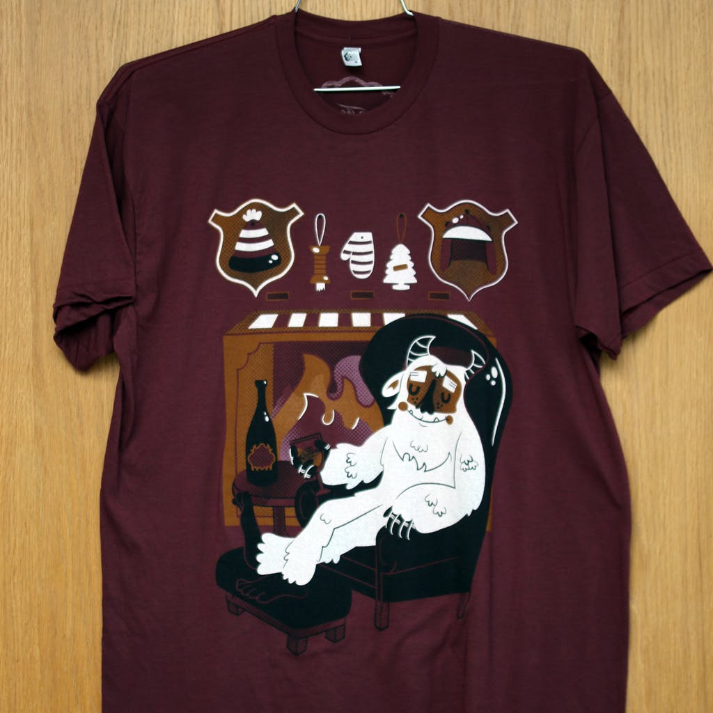 Ringspun cotton tee - The Bruery - winter monster Promotional shirt sold by Brewery Outfitters
