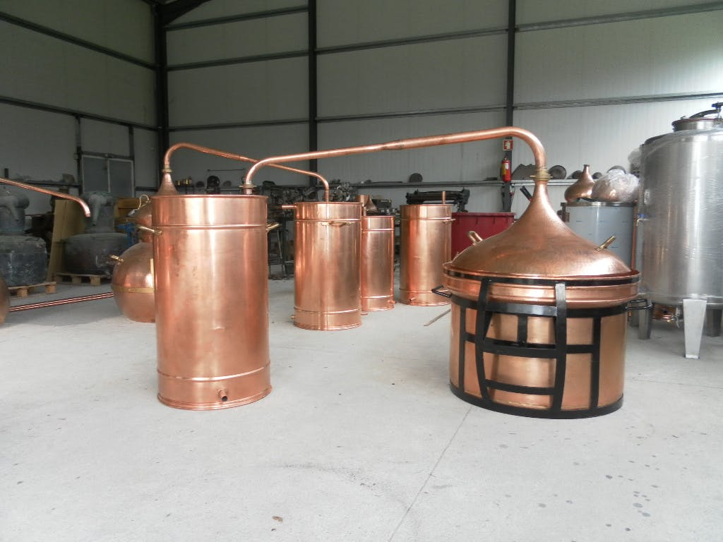 Bain Marie Alembic Distillation still sold by Olympic Distillers
