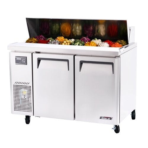 Turbo Air JST-48 Sandwich/Salad Side Mount Prep Table, 11 Cu. Ft. Food prep table sold by Mission Restaurant Supply