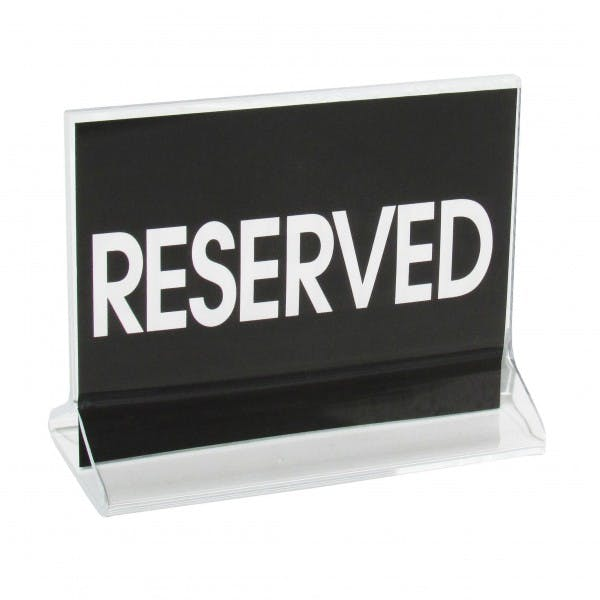 "Preprinted ""RESERVED"" Table Card Stand"