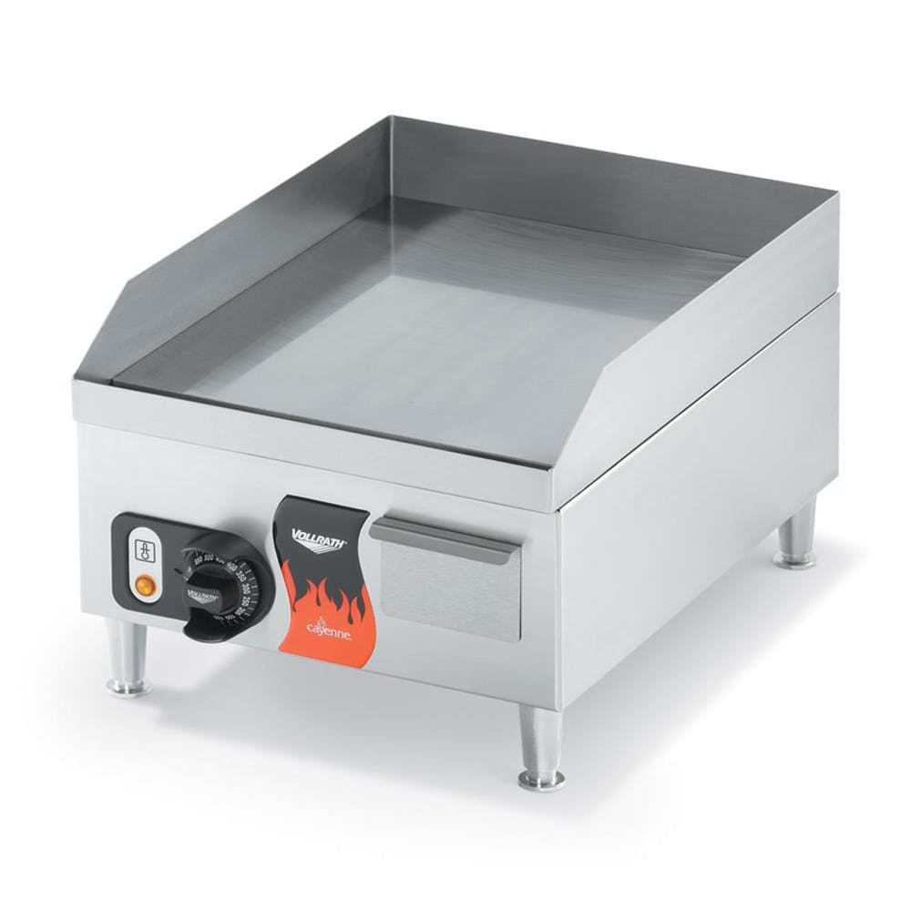 "Vollrath 40715 Cayenne Medium Duty Electric Countertop Griddle - 14"", 120V Griddle sold by Mission Restaurant Supply"