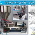 Non-Flammable, Perfume Single Head Piston Filler/ Filling Machine(AIR ONLY) JET-500 Fills Liquid, Paste, Oil, Gel, Peanut Butter - Filling machine sold by Pro Fill Equipment