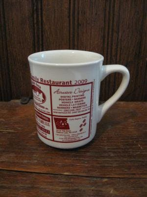 8.5 Diner Mug Ceramic mug sold by Promotional Concepts of Wisconsin