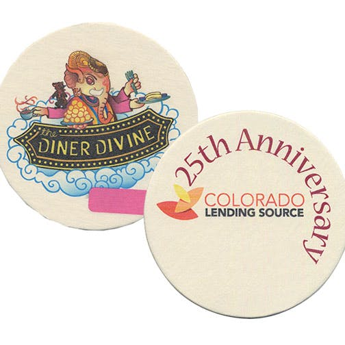 "Digital Printing, CoastersD-AS59-RD, 110 pt., Natural 4"" Round, Digital Coasters Drink coaster sold by Distrimatics, USA"