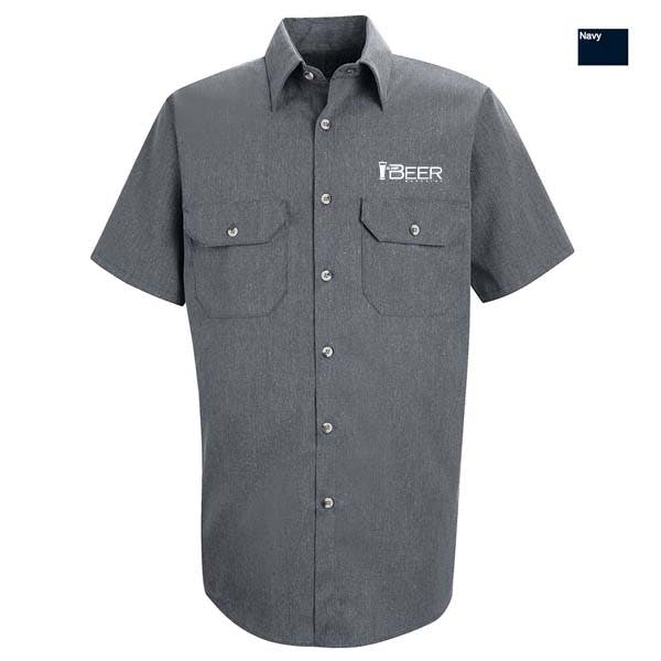 Heathered Poplin Uniform Shirt Promotional shirt sold by MicrobrewMarketing.com