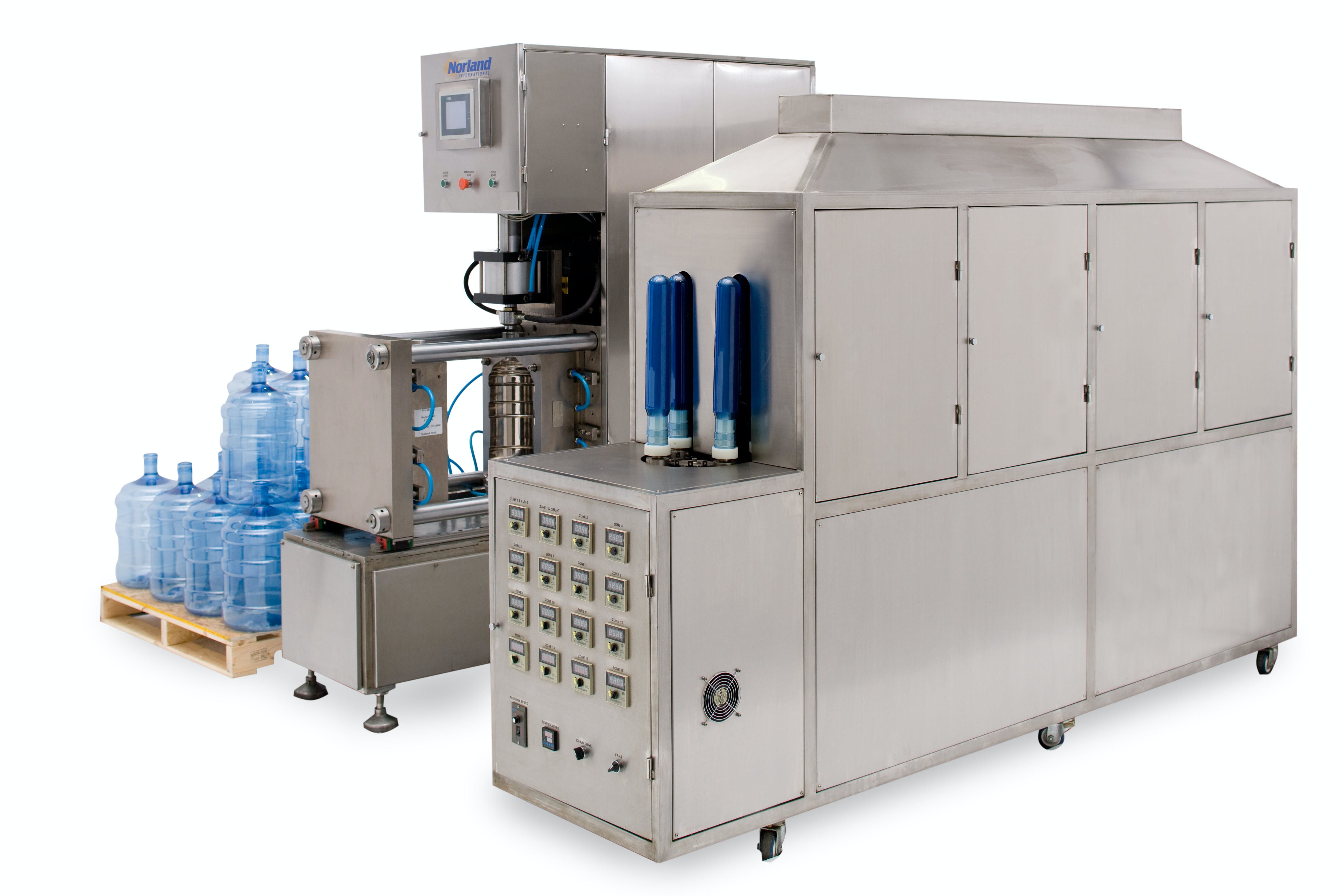 Blow Molder (Designed for water bottles only) Blow molding machine sold by American Beer Equipment