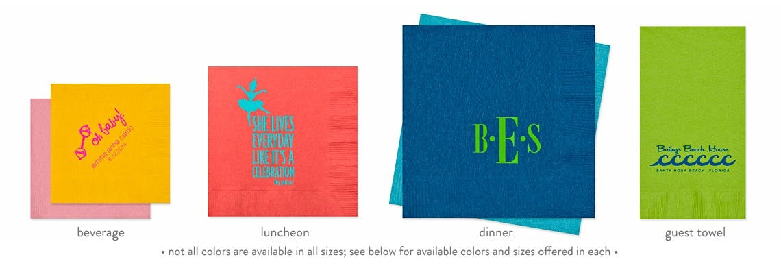 3-Ply Beverage, Luncheon, Dinner Napkins & Guest Towels