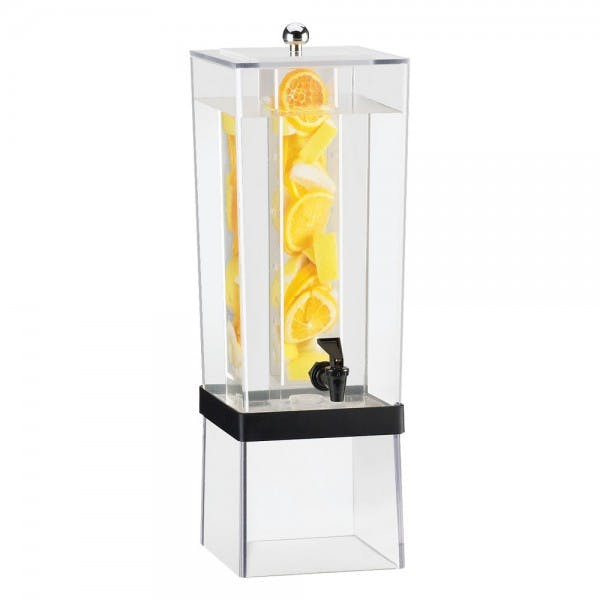 3 Gal. Plastic Beverage Infusion Dispenser w/ Black Band
