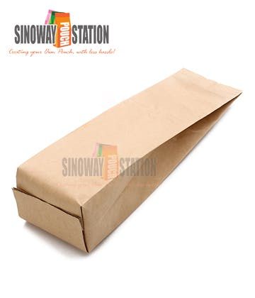 Kraft Foil Side Gusseted Pouch - sold by sinowaypouchstation.com,LLC