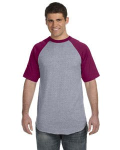 423 Augusta Sportswear 50/50 Short-Sleeve Raglan T-Shirt Promotional shirt sold by Lee Marketing Group