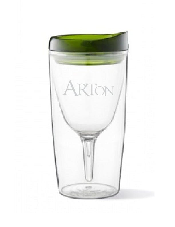Vino2Go - 10 oz Acrylic Wine Sippy Cup Plastic cup sold by ARTon Products