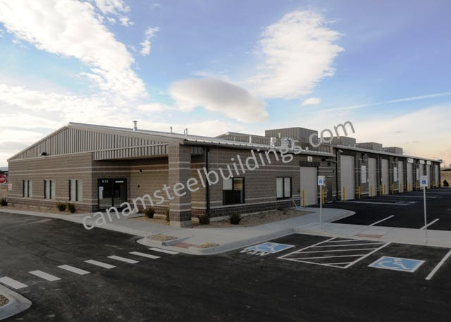 Commercial/Industrial - Steel Building Systems - sold by CanAm Steel Building Corporation