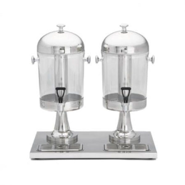 4.2 gal. 2 Section Clear & Stainless Beverage Dispenser