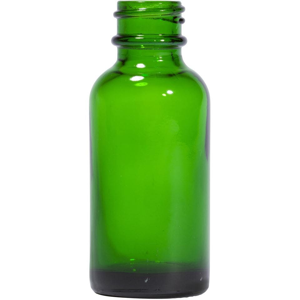 1 oz Round Glass Green Boston Round Bottle Glass bottle sold by Packaging Options Direct