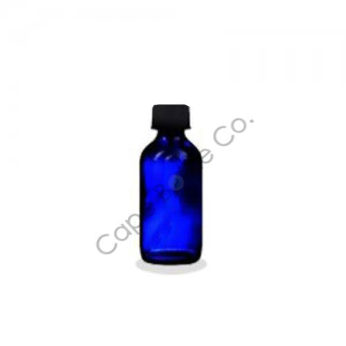 Cobalt blue Boston rounds Glass bottle sold by Cape Bottle Company, Inc.