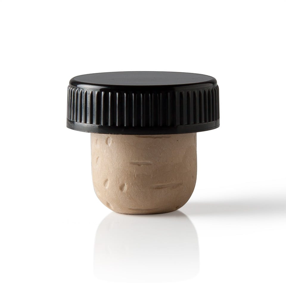 33mm Black Stopper Cork Cork sold by Packaging Options Direct