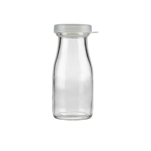 8 Oz Clear Gl Milk Bottles Optional Natural Cap Freund Container Supply