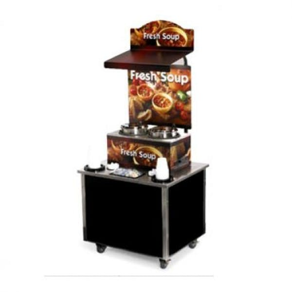 Cayenne® Free Standing Soup Merchandiser Kiosk w/ Country Kitchen graphics - V-VOL3702803