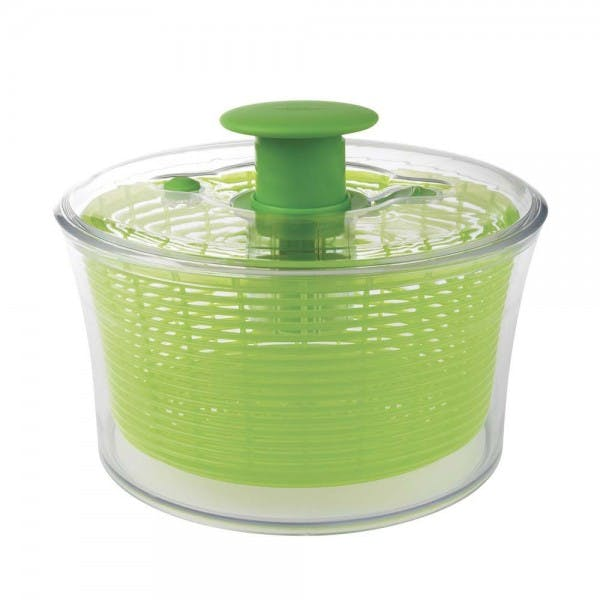 4.49 qt. Green Plastic Salad Spinner