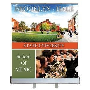 "32'' x 36"" Custom Digitally Printed Polypropylene Retractable Banner Stand Promotional display sold by Ink Splash Promos™, LLC"