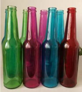 330ml custom color glass beer / beverage bottles Beer bottle sold by Luscan Group