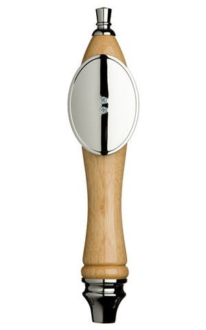 Natural Pub Tap Handle with Silver Oval Shield Tap handle sold by Taphandles LLC