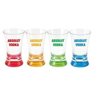 2oz acrylic shot glass with colored base. Shot glass sold by MicrobrewMarketing.com