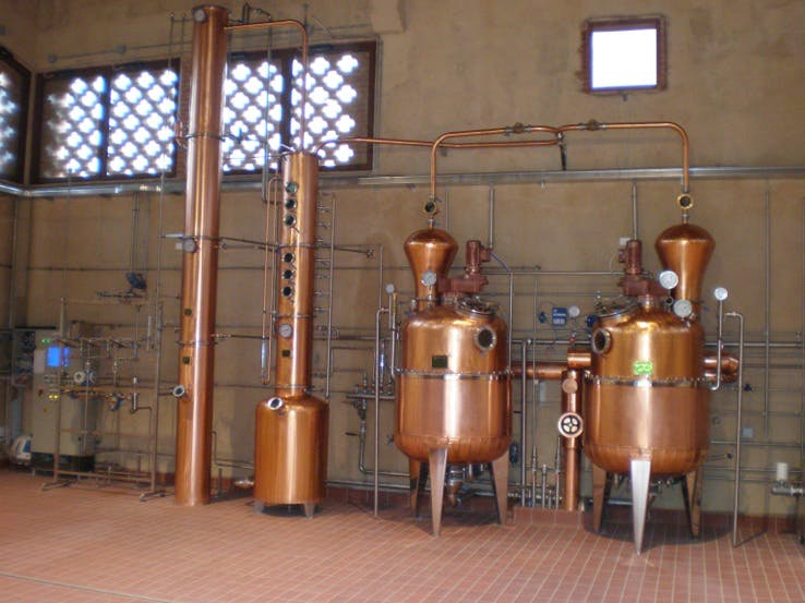 ITALIAN MADE BARISON STILLS Distillation still sold by Prospero Equipment Corp.
