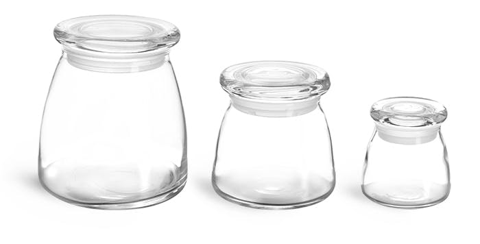 clear glass candle jars w glass flat pressed lids glass jar sold by sks bottle - Glass Containers With Lids