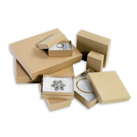 Kraft Jewelry Boxes Kraft packaging sold by Ameripak, Inc.