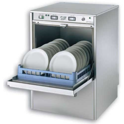 Jet Tech - F-18DP 24 Rack/Hr High-Temp Undercounter Dishwasher Commercial dishwasher sold by Food Service Warehouse