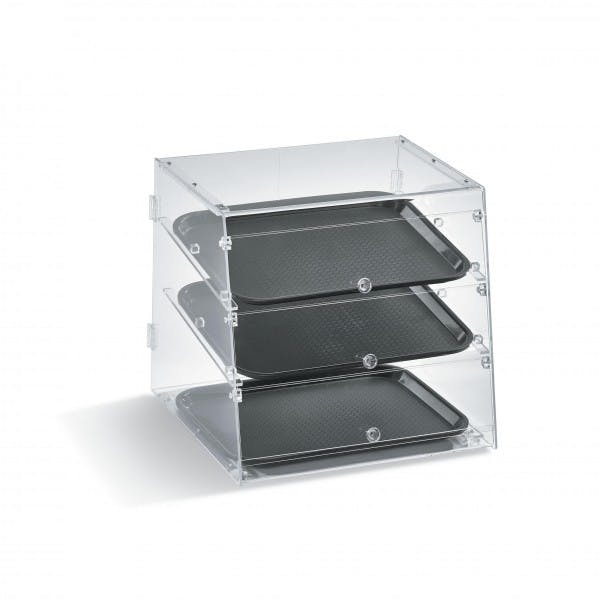 3 Tray Slanted Front Display Case - VOLKDC1418-3-06