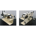 Manual Round Product Label Applicator. - Bottle labeler sold by G2 I.D. Source