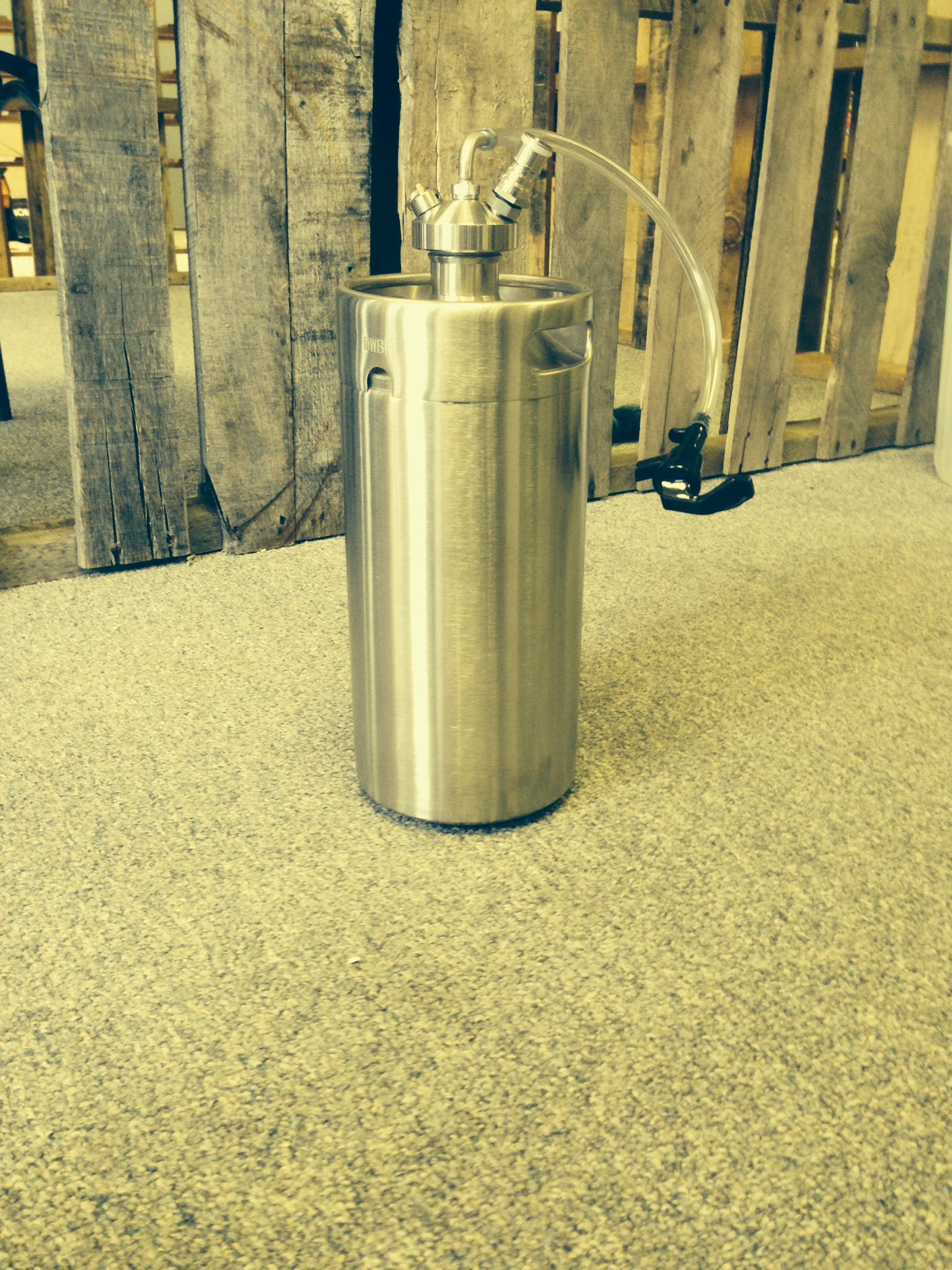 1 Gallon (4 Liter) Keg Growler. Keg growler sold by Zymogear