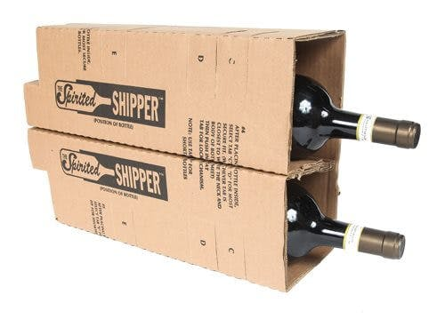 Two magnum bottle insert - Six Magnum Bottle Wine Shipper - sold by SpiritedShipper