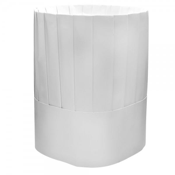 """9"""" White Paper Vented Chef Hat"""