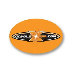 "Oval Labelight Stickers (3 1/4""X 2 1/8"") Promotional sticker sold by Dechan, Inc. II"