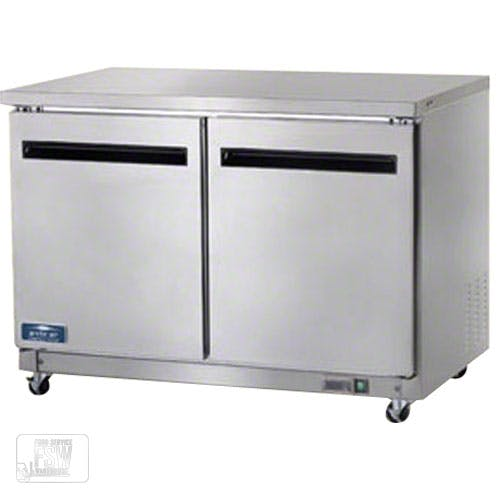 "Arctic Air - AUC48R 48-1/4"" Two Door Undercounter Worktop Refrigerator Commercial refrigerator sold by Food Service Warehouse"